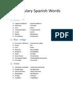 Vocabulary Spanish Words.docx