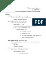 teaching resume may 2017 2