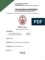 Informe de laboratorio n°1 de Fisica1