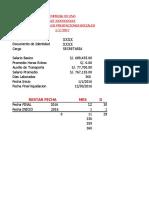 Formato Liquidacion Contrato