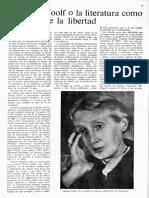 Castellanos - Virgnia Woolf o La Literatura Como Ejercicio de La Libertad
