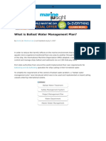 What is Ballast Water Management Plan