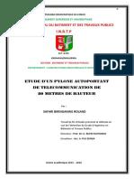 Memoire de Licence en Construction Industrielle Par Safari Biringanine Roland