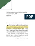 Deterioro Progresivo Del Voto en Colombia