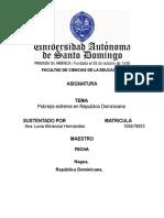Probreza Extrema en Republica Dominicana Lucia Almanza