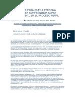 Requisitos Para Que La Persona Jurídica Sea Comprendida Como Tercero Civil en El Proceso Penal Peruano
