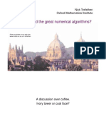Who Invented the Great Algoriths in Numerical Analysis