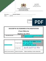 Descriptif Filiere Marketing Et Action Commerciale ENCG-settat 2014