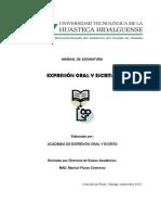 Expresión Oral y Escrita i - Biblioteca UTHH
