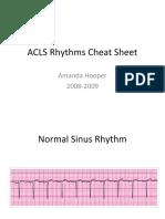 ACLS Rhythms Cheat Sheet