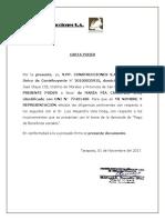 Carta de Poder- Contestacion