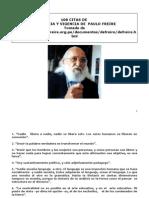 Citas de Paolo Freire