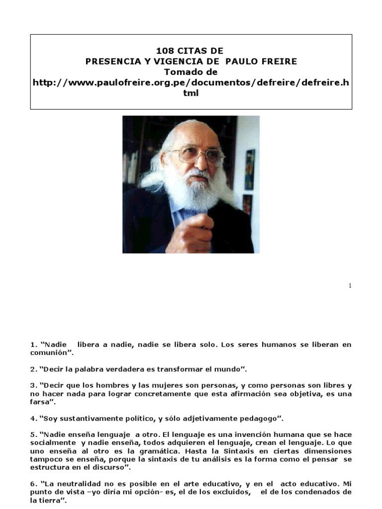 Citas De Paolo Freire Realidad Verdad
