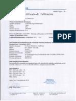 Certificado de Fluke Serie 20070308