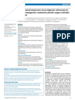 2018 Subacromial Decompression Versus Diagnostic Arthroscopy for Shoulder Impingement; Randomised, Placebo Surgery Controlled Clinical Trial