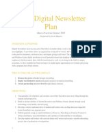 digital newsletter plan
