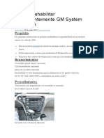Cómo Deshabilitar Permanentemente GM System PassLock