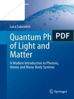 Quantum Physics of Light and Matter a Modern Introduction to Photons Atoms and Many Body Systems
