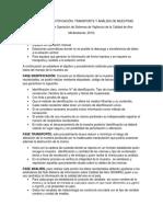 F Protocolo tratamiento de la muestra RMCA