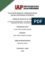 proyecto de investigación de la trata de personas