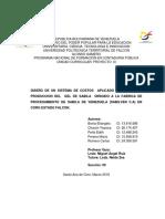 Sistema de Costo a La Linea de Produccion de Gel de Sabila
