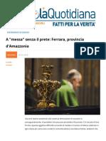 """A """"Messa"""" Senza Il Prete. Ferrara Provincia D'amazzonia"""