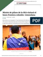 Misión de Países de La OEA Visitará El Lunes Frontera Colombo-Venezolana _ ELESPECTADOR.com
