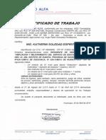 Certificados Residencia Infraestructura