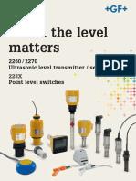 Folleto de sensores ultrasónicos de Georg Fischer - Ultrasonic Level Brochure
