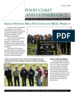 Summer 2010 Newsletter Redwood Coast Land Conservancy