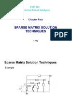 Sparse Matrix Solution