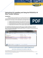 FOCUS DL-15 Data Transfer Software Instructions 0315