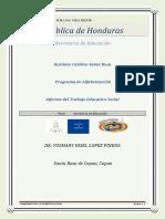 YUSMARY HISEL PINEDA Informe de Alfabetizacion 3ro Contaduria