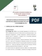 Carta propuesta de auditoria