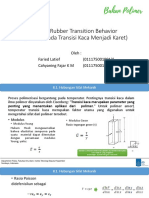 Glass Rubber transition