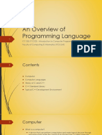 Ppt 1 - An Overview of Programming Languages