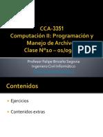 Computación II Programación y Manejo de Archivos Clase 10 010916 (1)