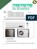 Minisplit Manual WAS6009WCA 6012 6018 6022 Spanish