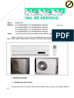 Minisplit Manual WAS6009WCA 6012 6018 6022 Spanish