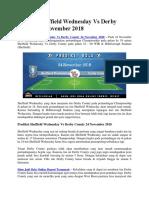 Prediksi Sheffield Wednesday vs Derby County 24 November 2018