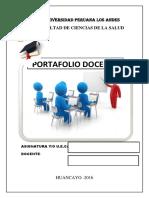 Caratula de Portafolio Docente