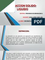 Extraccion Solido-liquido