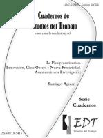 La Flexiprecarización Innovación, Clase Obrera y Nueva Precariedad