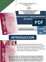 Protocolo y Procedimientos en Obstetricia