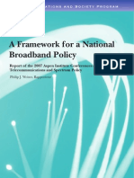 A Framework for a National Broadband Policy