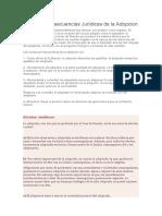 Efectos y Consecuencias Jurídicas de La Adopcion