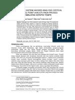 Analisis Bahaya Pada Proses Pembuatan Keripik Pepaya