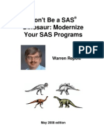 Don't Be a SAS Dinosaur