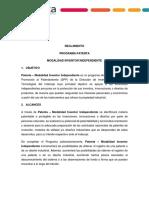 Reglamento - Modalidad Inventor Independiente