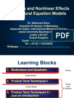Structural Equation Modelling (SEM)